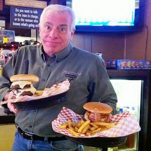 pappy with burgers